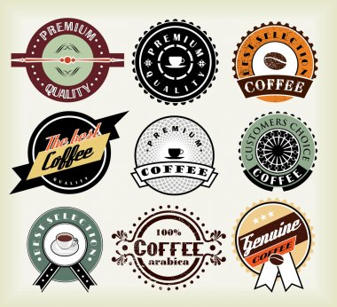 Set of coffee labels and badges