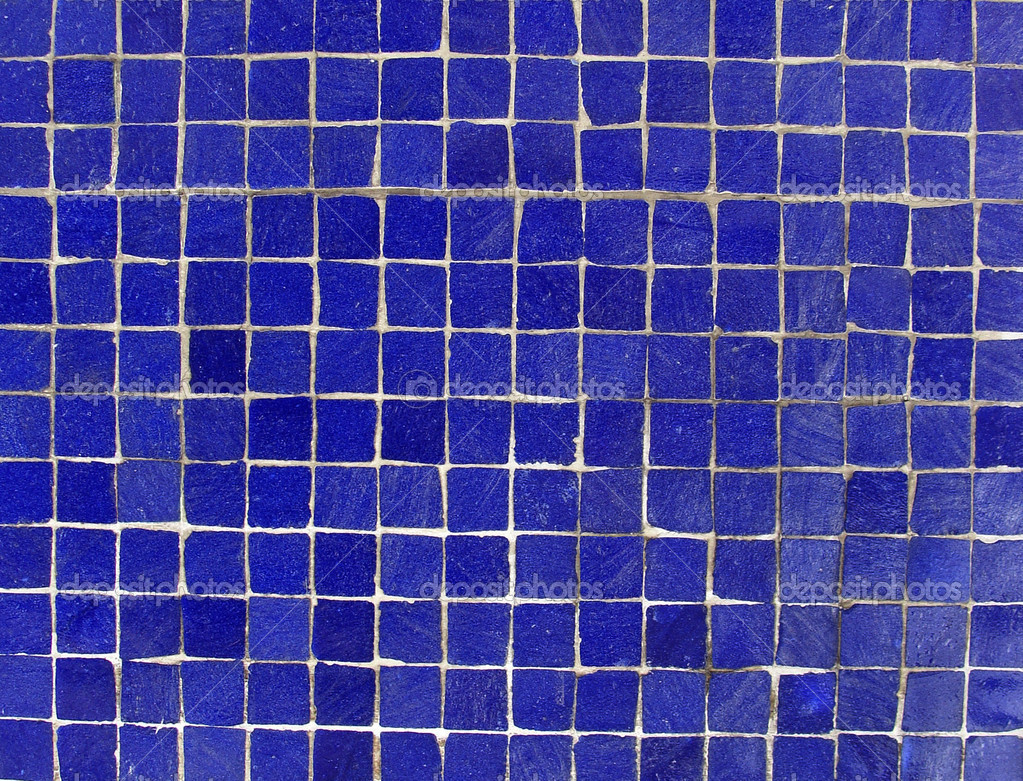Dark blue mosaic tiles on a wall — Stock Photo © johnjohnson #9071353