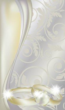 Beautiful Wedding Background , vector illustration