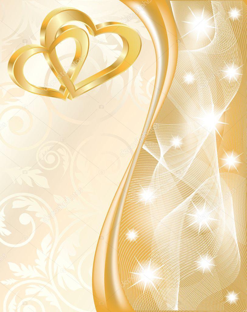 Картинка с золотой свадьбой вертикальная