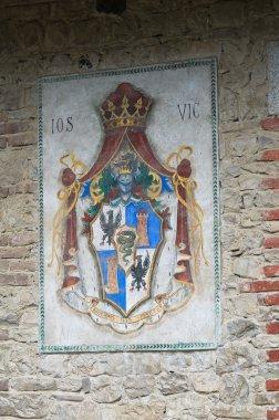 Coat of arms. Grazzano Visconti. Emilia-Romagna. Italy.