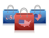 nás téma nákupní tašky ilustrace