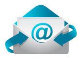 Photo E-mail concept illustration design on a white background