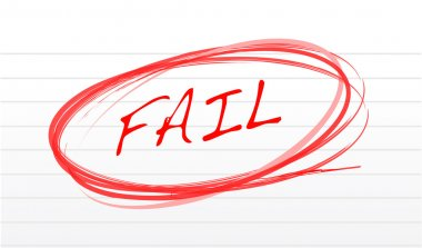 Fail written on a notepad paper illustration design