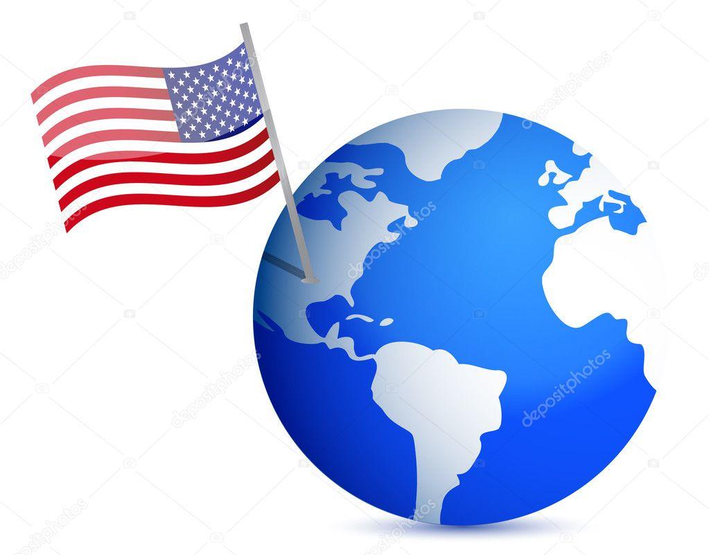 Bandiera Del Pianeta Terra Con Noi Disegno Di Illustrazione Su