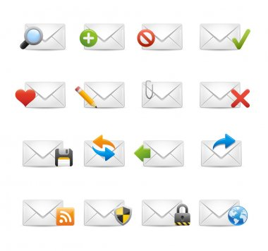 E-mail Icons - Set 1 of 3 // Soft Series