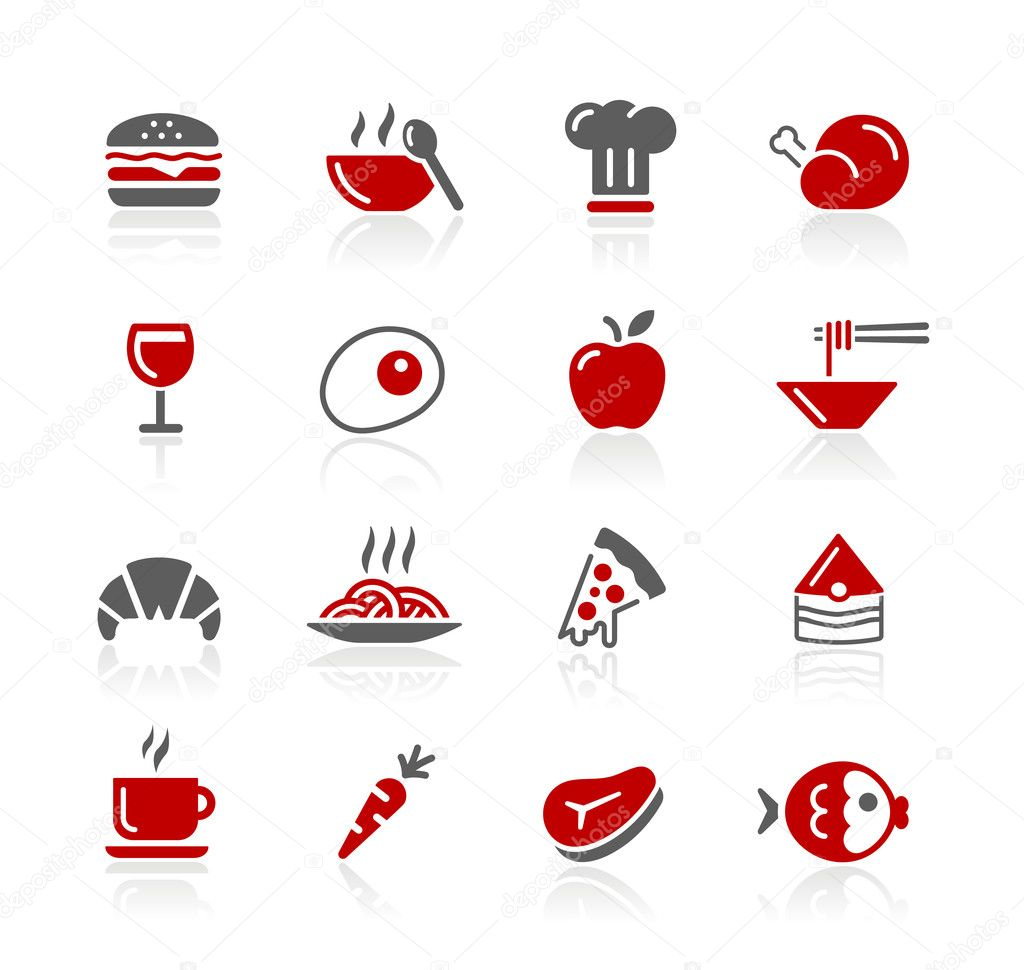 Food Icons / Set 1 of 2 // Redico Series