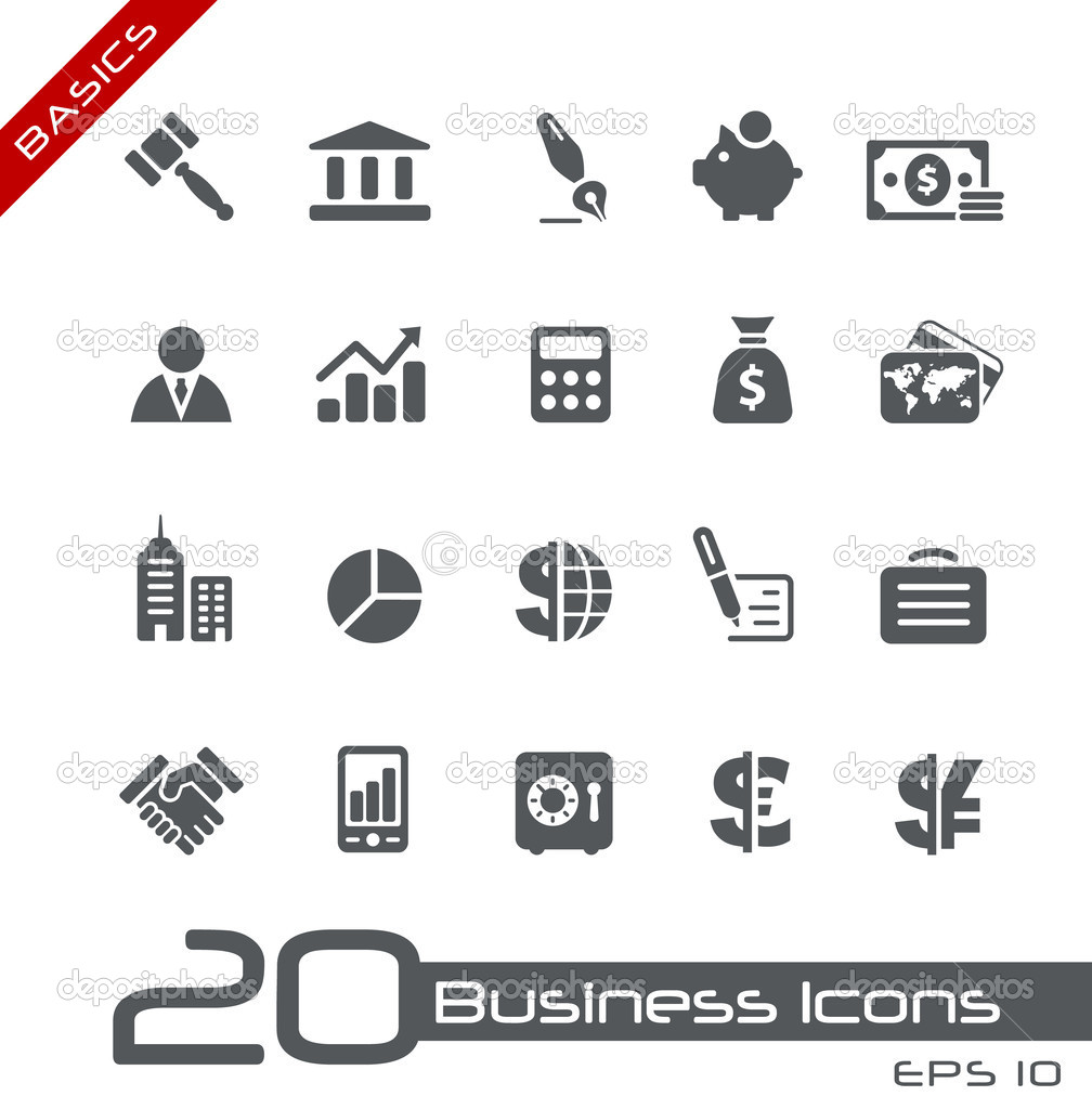 Business Finance: Business & Finance Icons // Basics