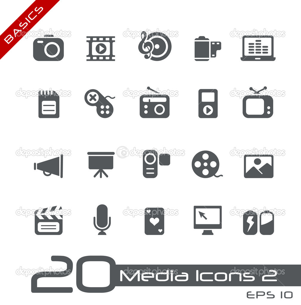 Vector icons for your web or printing projects. stock vector