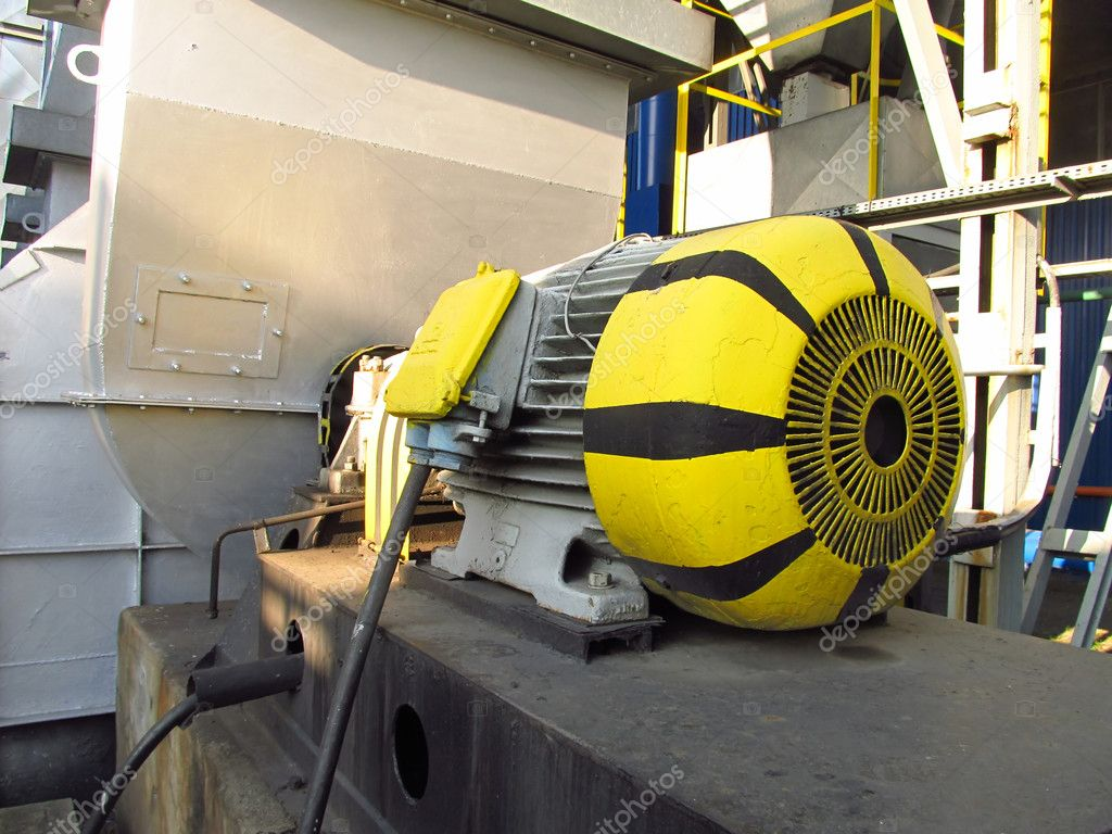 Old, painted electric motor