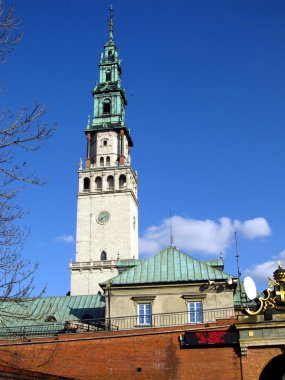 Jasna Gora monastery view from the west