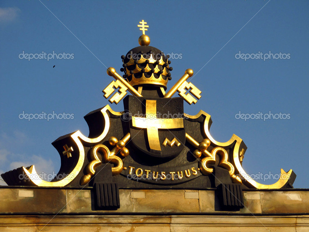 Coat of arms of pope john paul ii stock photo rparys 9450019 coat of arms of pope john paul ii on the western entrance gate to the monastery of jasna gora in czestochowa photo by rparys buycottarizona Choice Image