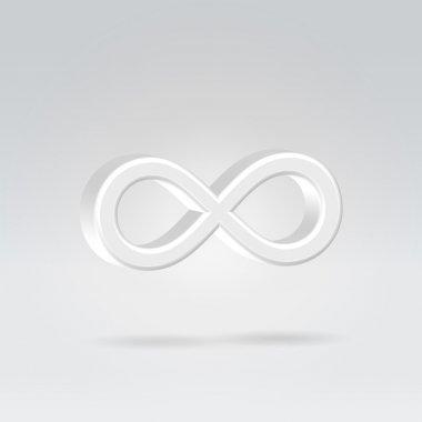 Glowing eternity symbol