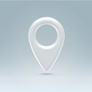 Navigation point glossy plastic symbol