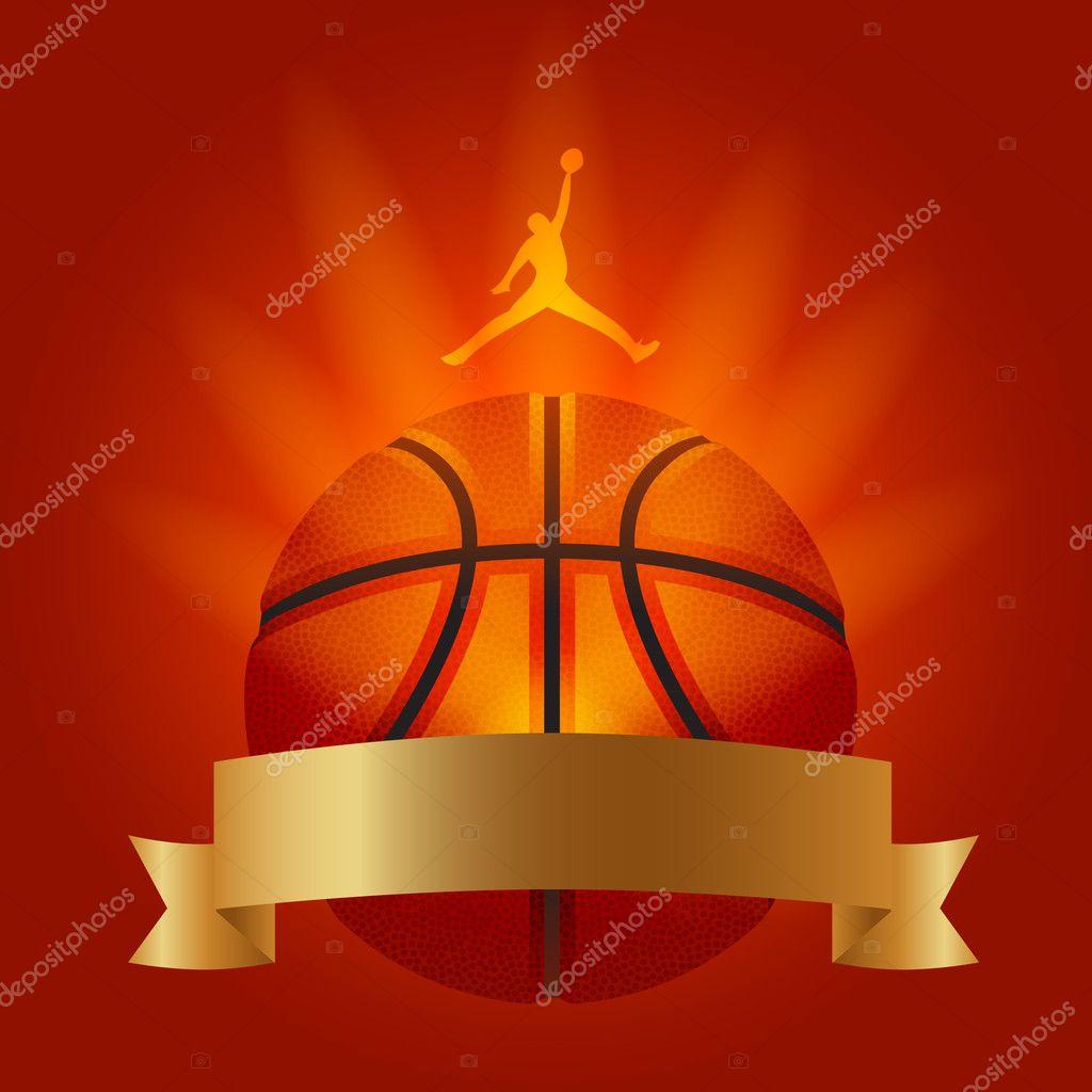 ejemplo de baloncesto club decoración cartel — Archivo Imágenes ...