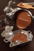 Fotografie machen Schokolade Osterhasen