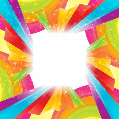 Abstract rainbow background. Clip-art stock vector
