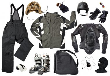 Male skier clothing