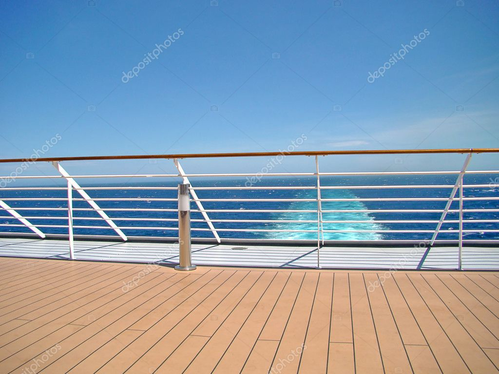 Cruise ship deck with sea view stock photo fabiofersa for Balcony on cruise ship