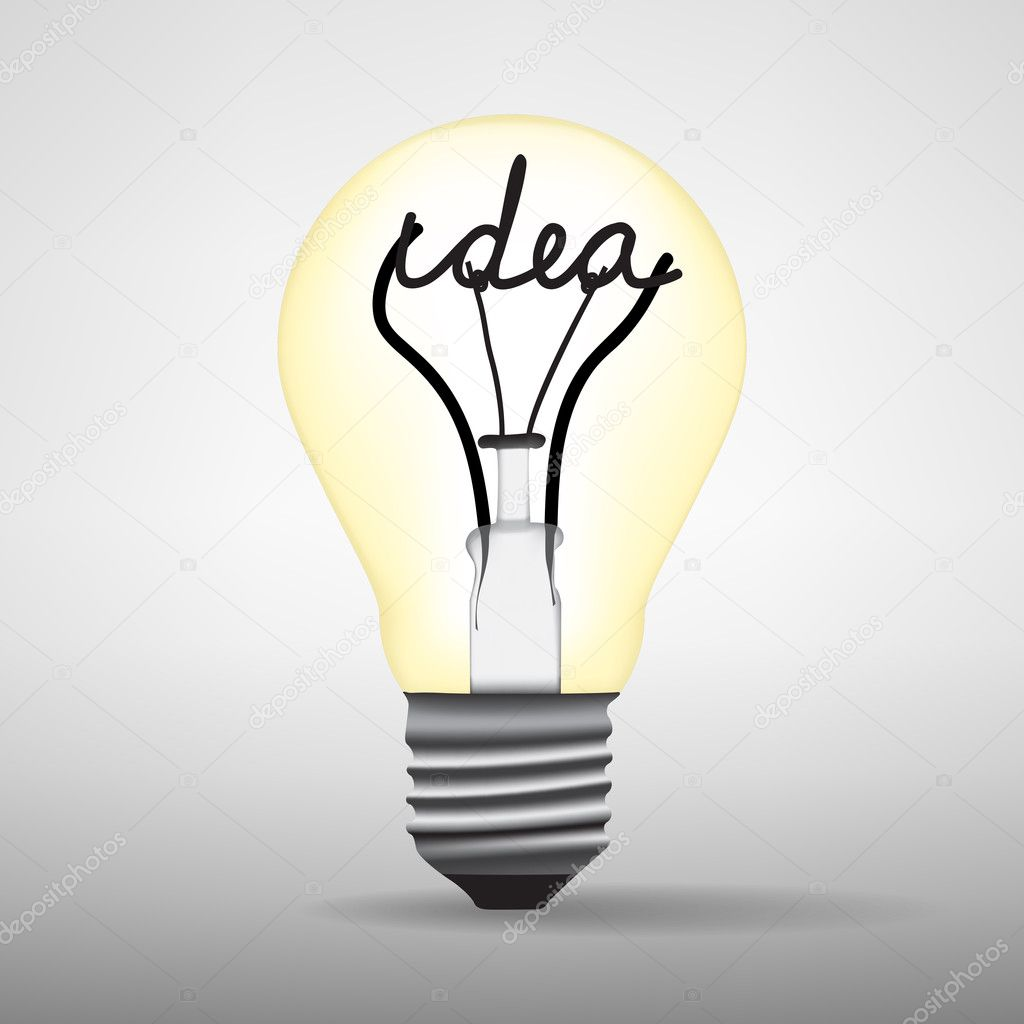 Light Bulb Idea Vector U2014 Stock Vector #10374092