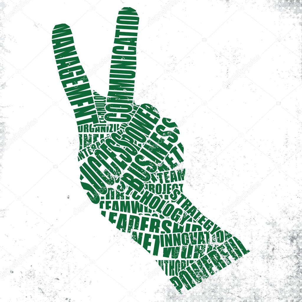Gestures of the words — Stock Vector © strejman #8233011