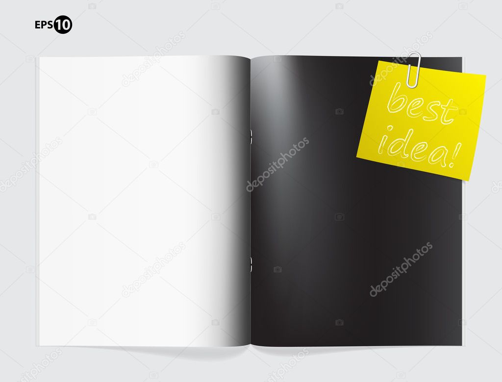 Magazine blank page template for design layout — Stock Vector ...