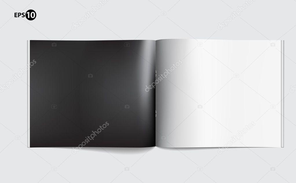 デザイン レイアウトのマガジン ブランク ページ テンプレート