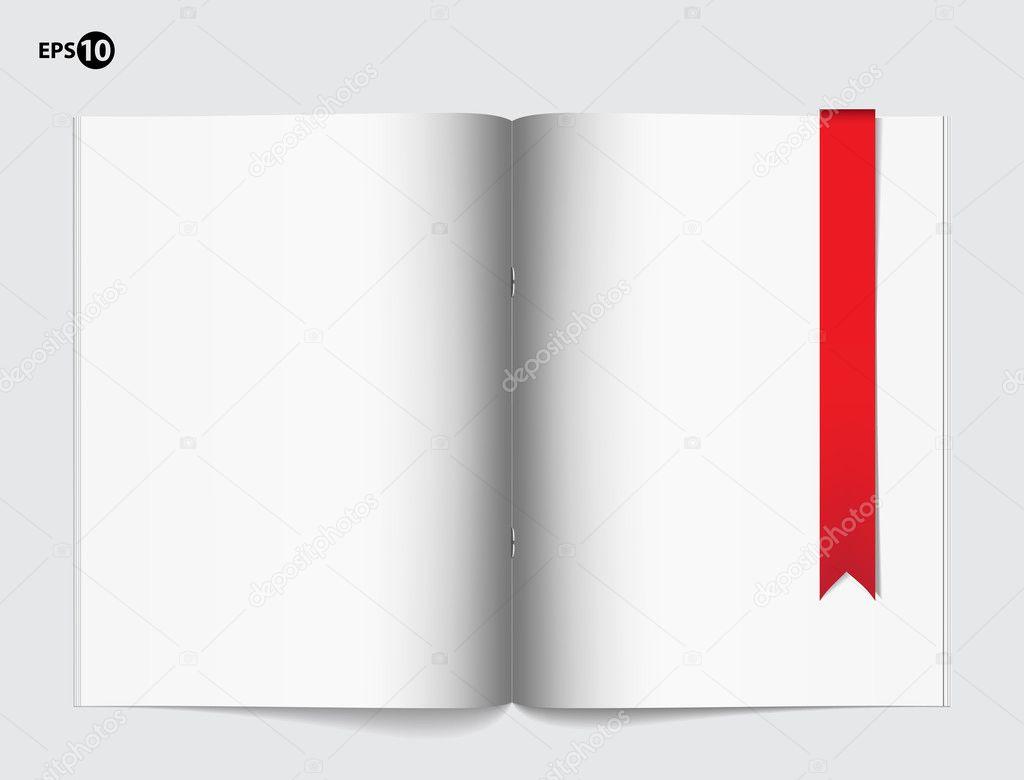 plantilla de página en blanco revista de diseño — Vector de stock ...