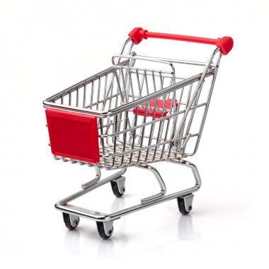 A Shopping Cart Isolated On White stock vector