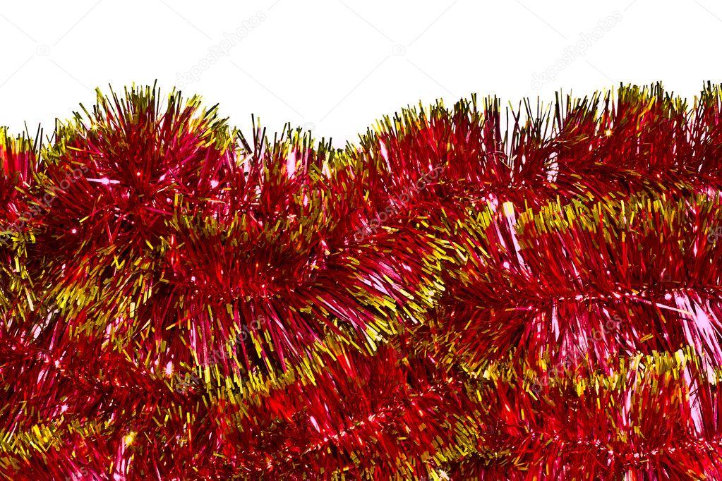 Red christmas tinsel garland u stock photo ignatyeva