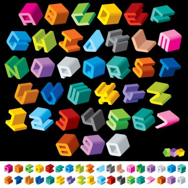 Multicolored 3D Letters