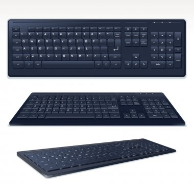 Vector Black Computer Keyboard