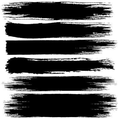 Set of Black Grunge vector banners clip art vector