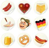 Oktoberfest-Etiketten