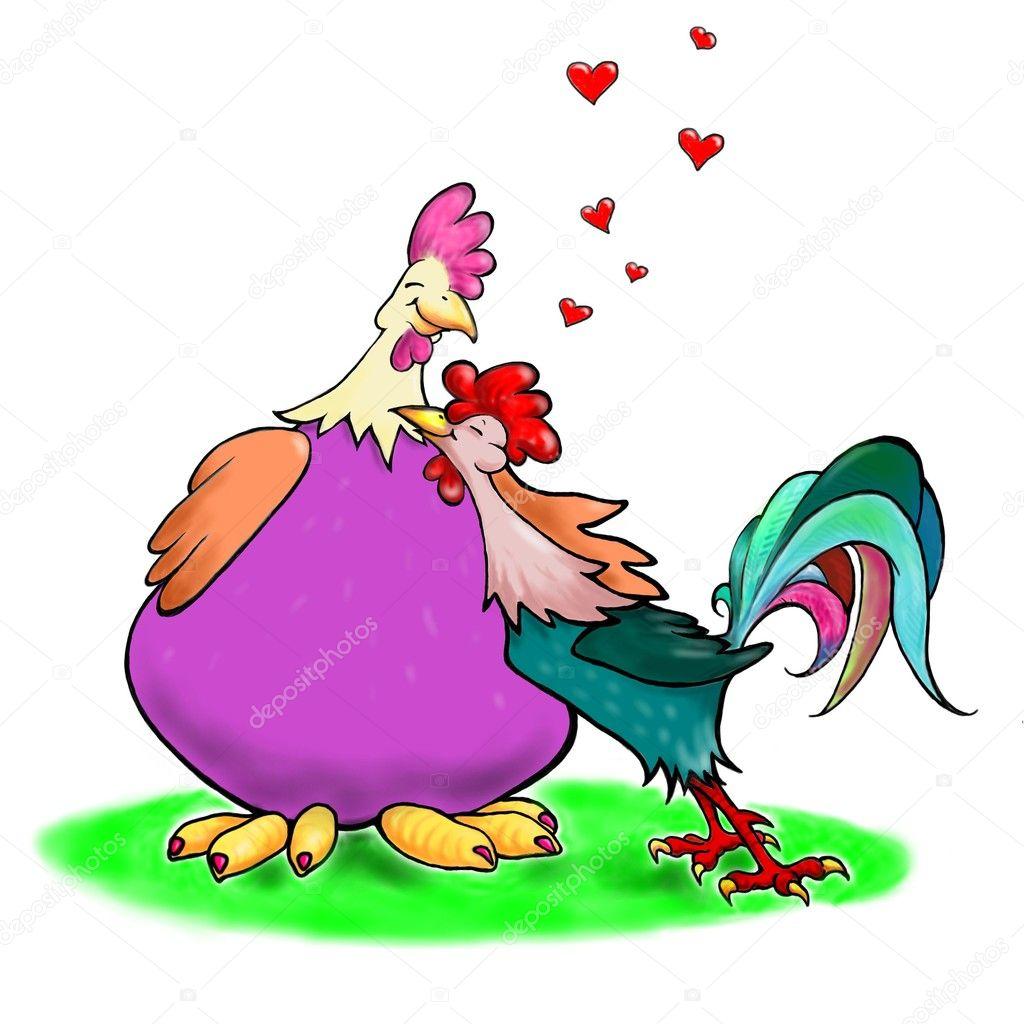 Картинки, прикольные картинки про петуха и курицу