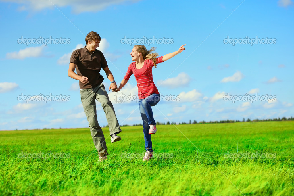 Pair on meadow