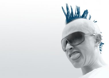 Punk in glasses