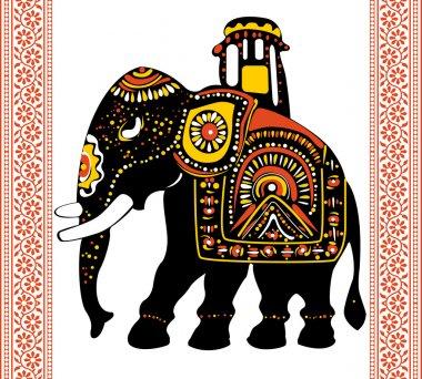 Festive indian elephant