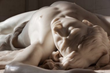 Marble statue of Hermitage