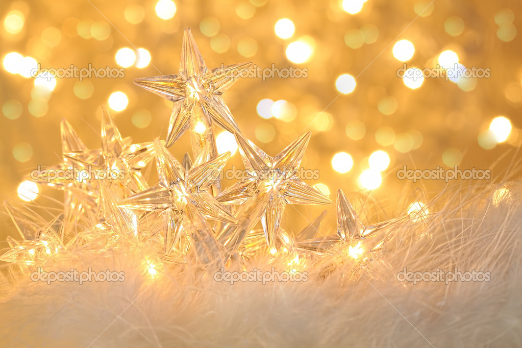 star holiday lights with sparkle background stock photo 8017527 - Sparkling Christmas Lights