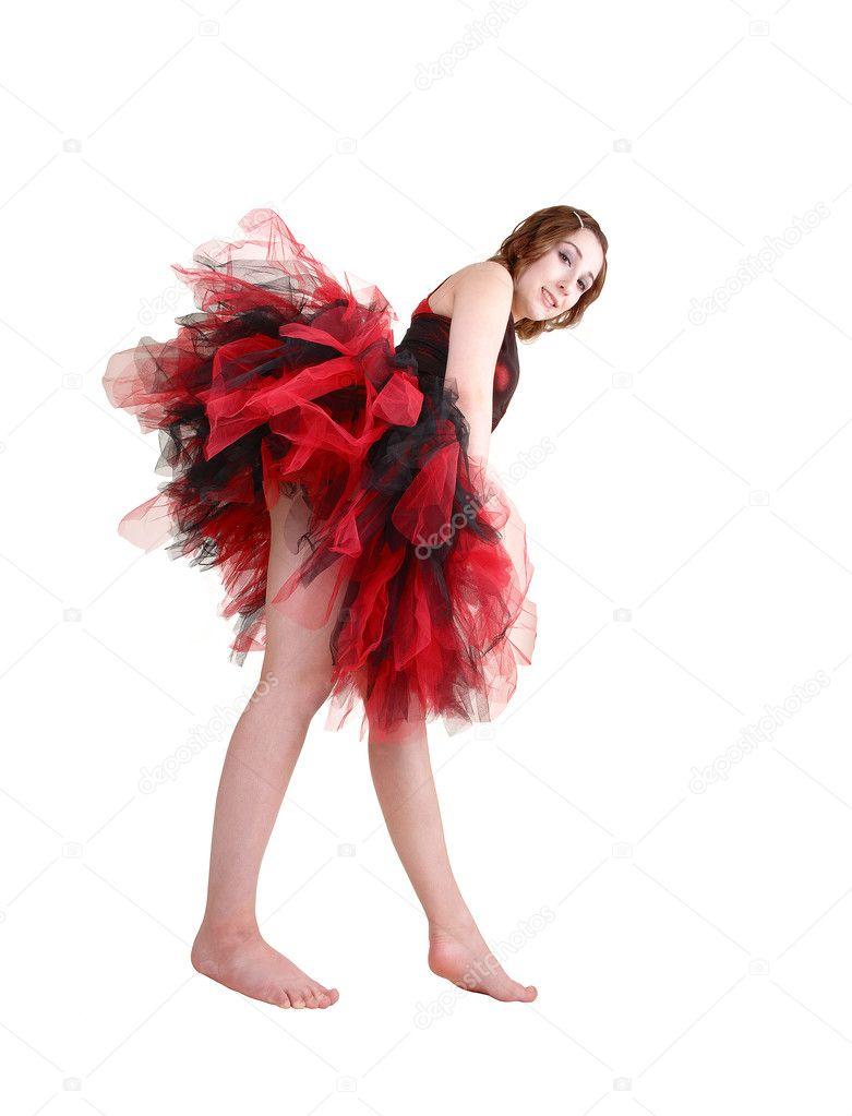 Teenager-Mädchen tanzen nackt
