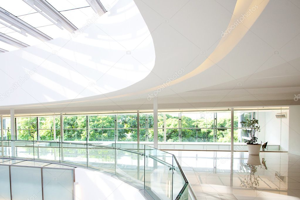 High Tech Interior Of A Modern Office Building Stock Photo 10641784