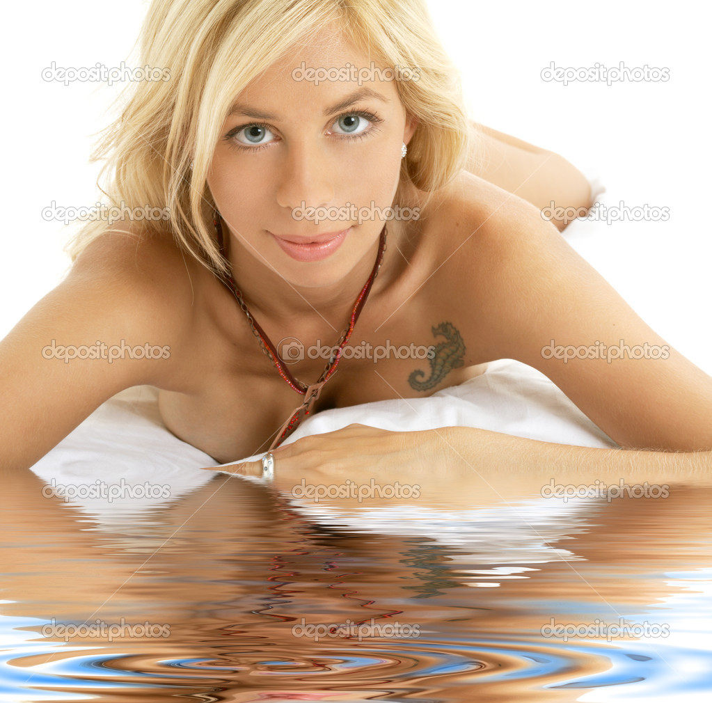 Lovely Naked Blonde Woman  Stock Photo  Syda -1537