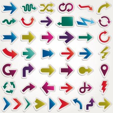 Vector arrows set paper