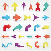 Fotografia set frecce vettoriale