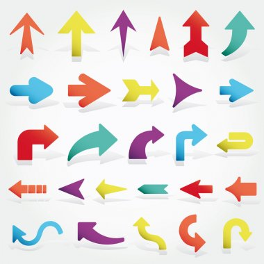 Vector arrows set stock vector