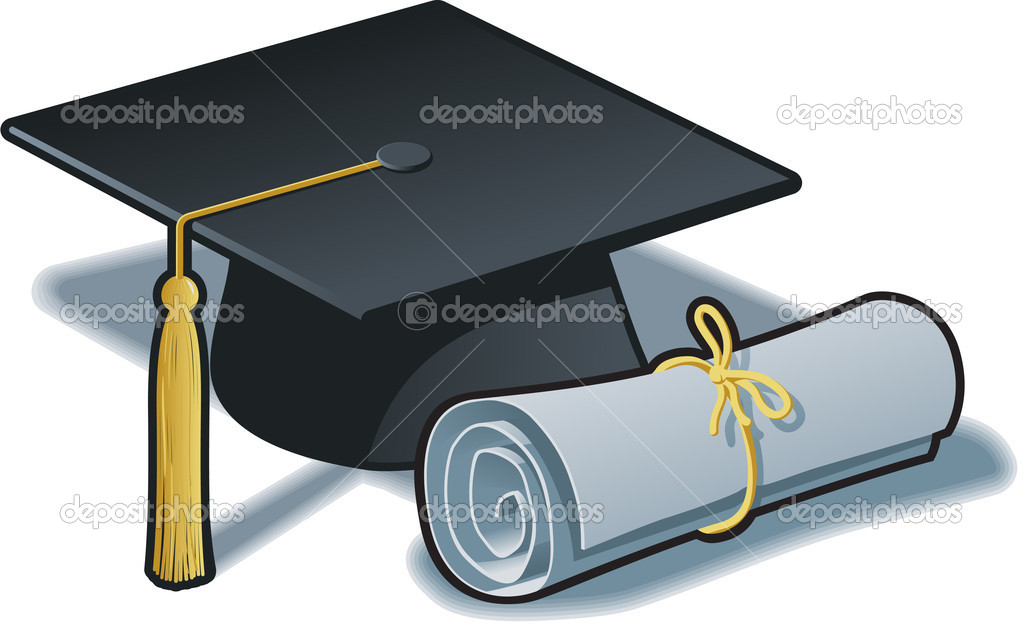 graduation hat and diploma stock vector © befehr  graduation hat and diploma stock vector 10421416