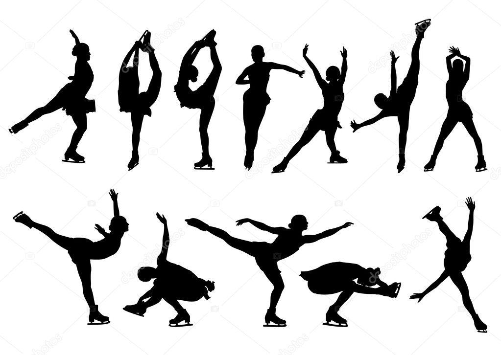 Figures of figure skaters