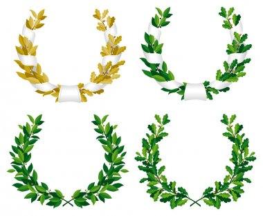 Laurel and oak wreaths