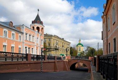 Stone bridge in Voronezh in Russia